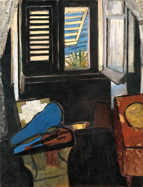 Henri Matisse (French, 1869–1954) Interior with a Violin (Room at the Hôtel Beau-Rivage), 1918